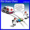 Cartoon: Ambulance (small) by toons tagged traffic,accident,ambulance,first,aid,hit,and,run,pedestrians