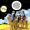 Cartoon: Beaten to the punch (small) by toons tagged three,wise,men,santa,christmas,gifts,bethlehem