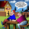 Cartoon: Beer garden (small) by toons tagged gardening,beer,garden,pottering