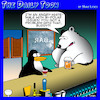 Cartoon: Bi Polar (small) by toons tagged polar,bears,angry,white,male,bi,penguins,animals