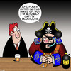 Cartoon: Blackbeard (small) by toons tagged bluetooth,history,captain,blackbeard,pirates,mistaken,identity,headphones