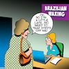 Cartoon: Brazilian wax (small) by toons tagged brazilian,wax,tear,strips,off,me,punctuality,appointments,beauty,spa,sauna