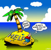 Cartoon: busy (small) by toons tagged desert island mobile phone busy