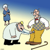 Cartoon: Checking for signs of life (small) by toons tagged erectile,dysfunction,old,age,viagra