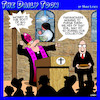 Cartoon: Church collections (small) by toons tagged money,is,the,root,church,sermon