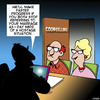Cartoon: Counselling (small) by toons tagged marriage,counselling,hostage,situation
