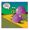 Cartoon: Crazy Bastard (small) by toons tagged road,rage,snails,slugs,anger,management,speed,limits,driving,temper