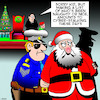 Cartoon: Cyber stalking (small) by toons tagged santa,claus,cyber,stalking,christmas,arresting,officers,crime,xmas