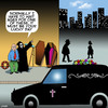 Cartoon: Death hails a taxi (small) by toons tagged hearse,angel,of,death,uber,taxi,lucky,day