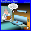 Cartoon: Diagnosis (small) by toons tagged diagnosis,ears,cancer,hospitals,cured,complete,recovery,remission