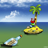 Cartoon: Divorce (small) by toons tagged desert,island,serving,divorce,papers,lawyer