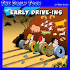 Cartoon: Drive in theater (small) by toons tagged the,wheel,drive,in,theater,movies,cave,art,prehistoric