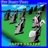 Cartoon: Easter island (small) by toons tagged covid,19,easter,island,statues,facemask,rabbit,ears