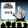 Cartoon: Family planning (small) by toons tagged family,planning,workshops,mathematics,one,plus,condoms,overpopulation