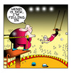 Cartoon: filling in (small) by toons tagged circus,trapeze,illness,entertainment,bungee,fat,obese