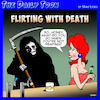 Cartoon: Flirting with death (small) by toons tagged flirting,horseman,of,the,apocalypse,bars