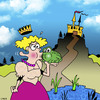 Cartoon: Frog Prince (small) by toons tagged royalty,fairy,tales,frog,prince,princess