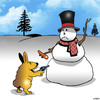 Cartoon: Gimme the carrot! (small) by toons tagged snowman,rabbits,robbery,stickup,guns,burglar,carrots