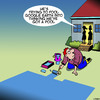 Cartoon: Google earth (small) by toons tagged google,earth,backyard,pool,house,painting