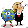 Cartoon: Groper (small) by toons tagged president,trump,inapropriate,advances,sexual,preditor,narsissist,donald,planet,earth
