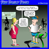 Cartoon: Gym (small) by toons tagged splits,exercise,gymnasium,flexible,stretching