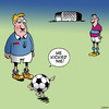 Cartoon: He kicked me (small) by toons tagged soccer,referee,football,player,ball