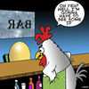 Cartoon: Identification (small) by toons tagged under,age,drinking,chicken,and,egg,bars,pubs