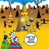 Cartoon: injun mail (small) by toons tagged cowboys,and,indians,wild,west,mail,computers,email,social,networking,teepee,smoke,signals,chief,peace,pipe,squaw,western,apache