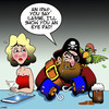 Cartoon: iPad (small) by toons tagged ipads,pirates,eye,patch,smart,phone