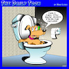 Cartoon: Jacuzzi (small) by toons tagged dogs,toilet,cistern,hot,tub,jacuzzi