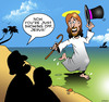 Cartoon: Jesus showing off (small) by toons tagged tap,dancing,with,hat,and,cane,extrovert,showing,off