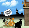 Cartoon: jump (small) by toons tagged kangaroos,marsupials,suicide,animals,joeys,australia,architecture,jumping,trampoline