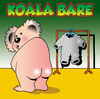 Cartoon: Koala Bare (small) by toons tagged koala,bear,nude,bears,australia,animals,clothes,naked,dry,cleaners