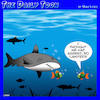 Cartoon: Lawyers (small) by toons tagged lawyers,attorney,sharks,fish,legal,representation,divorce