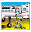 Cartoon: Lemming Air (small) by toons tagged lemmings,airlines,air,travel,airliners,first,class,business,cattle,flight,attendants,pilots,aircrew,safety