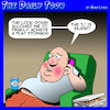 Cartoon: Lockdowns (small) by toons tagged quarantine,covid,obesity,overweight,stomach