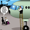 Cartoon: Locked out (small) by toons tagged locked,keys,inside,airline,pilot,jumbo,jets,break,ins,aviation,airports