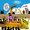 Cartoon: long day (small) by toons tagged hangman girrafe animals executioner medievil torture guillotine death hanging