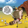 Cartoon: Man cave (small) by toons tagged man,cave,sheds,prehistoric,caveman,woman,clubbing