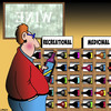 Cartoon: Mecicinal use (small) by toons tagged wine,sales,red,health,benefits,recreational,use