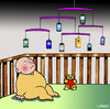 Cartoon: Mobile (small) by toons tagged mobile,baby,cot,crib,phones,babies,toys