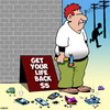Cartoon: Mobile phone-free zone (small) by toons tagged smart,phones,mobile,twitter,instagram,facebook,lifestyle,coach,life,balance,free,time,online