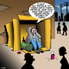 Cartoon: My people will meet with yours (small) by toons tagged tramp,begging,unemployed,homeless