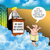 Cartoon: No shoes no entry (small) by toons tagged pearly,gates,saint,peter,death,afterlife,no,entry,into,heaven,turned,away,died,in,the,shower