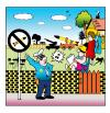 Cartoon: nukes in the yard (small) by toons tagged nuclear,power,atom,bomb,police,bombs,explosives,military,weapons