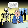 Cartoon: out of body experience (small) by toons tagged skeletons,skulls,paranormal