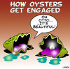Cartoon: oysters engagement (small) by toons tagged oysters,pearls,seafood,jewellry,engagement,marriage,wedding,ring,gift,dating,romance,love
