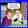 Cartoon: Pairing wine (small) by toons tagged anxiety,panic,attacks,stress,related,wine,drinker,shop,medicinal