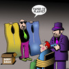 Cartoon: Paper or plastic (small) by toons tagged mafia,gagngsters,body,bags,execution,hit,man,environmentally,friendly,paper,or,plastic,criminals