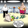Cartoon: people skills (small) by toons tagged boxing sport people skills relationships olympics referee ring